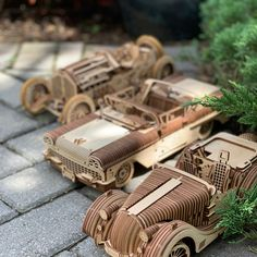 We love our vintage cars! Laser Cut Plywood, Laser Cutting, Retro Cars, Vintage Cars, Car Lover Gifts, Best Valentine's Day Gifts, Wooden Car, 3d Laser, Wood Toys