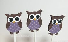 Owl Cupcake Toppers Owl Baby Shower by BeautifulPaperCrafts, $10.00