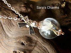 Roségoldkette Pusteblume in Glaskugel  von Sara´s Charms auf DaWanda.com