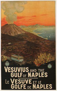 Mario Borgoni, Vesuvius and the Gulf of Naples, 1925