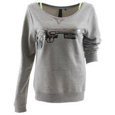 Adieu Gun Sweater - Grey