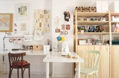 DecoMonday: la casa/estudio de Elena de Lelelerele Handmade