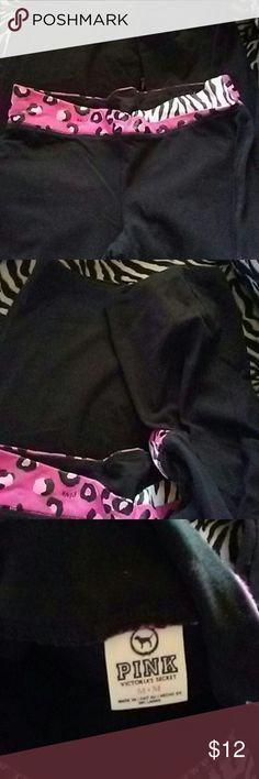 Pink boot cut pants. Nice waist band.boot cut have a little decoloration on zebra part. PINK Victoria's Secret Pants Track Pants & Joggers