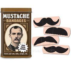 For Justin!! Mustache Bandages