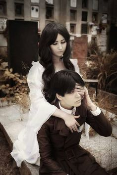 attack on ttian Levi and his mum cosplay