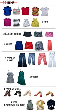 30 for 30...a cool clothing challenge, but also a good guideline for building a wardrobe that is very versatile. Just change the style of each piece to suit your taste/season!