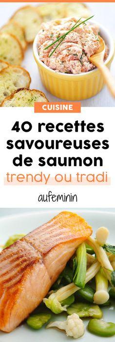 Le saumon, il n'y pas que sa version fumée qui compte ! Comment le cuisine et en faire un plat savoureux ? Un poisson que l'on peut préparer avec des recettes traditionnelles ou des recettes originales. /// #aufeminin #recette #recettes #poisson #saumon #repas #fêtes #noel #reveillon #ElleHabiteLa #Marmiton