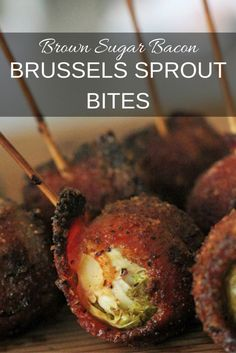Brown Sugar Bacon Brussels Sprout Bites #fallfest