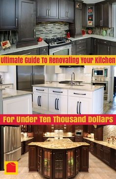 FREE Ultimate Guide to Renovating Your Kitchen for Under $10,000! Learn how you can create your perfect kitchen while staying within a small budget. http://info.bargain-outlets.com/guide-renovating-kitchen-under-10000?utm_campaign=BO%20Pinterest&utm_medium=social&utm_source=pinterest