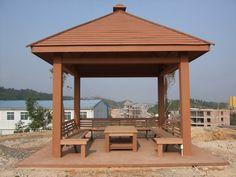 Building Park Preservative Pavilion Construction Of The Lake Side Of The  Anti   Corrosion Pavilion