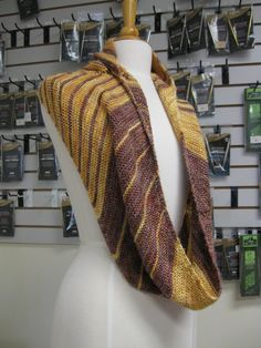 Foolproof Cowl knit in KFI Luxury Collection Silk. You have to feel this to believe it. Great gift idea. (The pattern is available on Ravelry.)