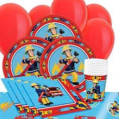 Feuerwehrmann Sam - Party-Set - Sparen Sie 28%!