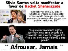 Silvio Santos diz que nao afrouxa nada e Rachel volta a ancorar o JORNAL DO SBT...e volta a falar o que pensa