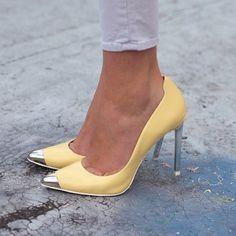 Yellow shoes #zara