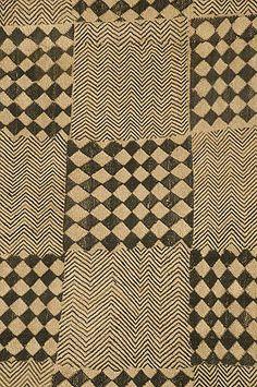 Boutala waist wrap, cut pile raffia embroidery, The Congo