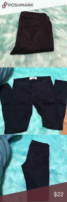 Navy Blue Skinny Pants Navy Blue Skinny Pants from Hollister. Size 5R W 27 L 31 Hollister Jeans Skinny