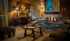 Chalet Hermine is a luxury ski chalet in Courchevel 1850 exclusively run by Kaluma Ski. A traditional 6 bedroom chalet with hot tub. Indoor Jacuzzi, Jacuzzi Hot Tub, Living Area, Living Spaces, Courchevel 1850, Luxury Ski Holidays, Small Spa, Cosy Interior, Open Fireplace