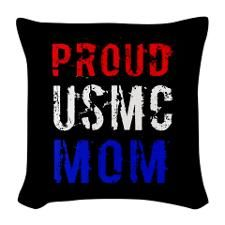 Proud Marine Mom Pillow, yes I can be obsessive about the USMC
