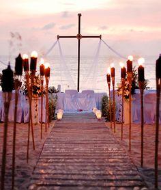 Cozumel Mexico, Sunset Beach Wedding - Boda - Hochzeit