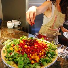 Pomegranate, Butter Nut Squash and Pumpkin Seeds all in one salad? Curl up with these tasty greens as you catch up on your fave TV shows this fall season.   Check out my Healthy Winter Salad recipe: http://www.urbanremedy.com/blog/24/healthy-winter-salad/