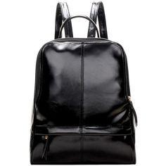 LUCLUC Black Shoulder Backpacks Bag (2.865 RUB) ❤ liked on Polyvore featuring bags, backpacks, bolsas, lucluc, knapsack bag, rucksack bags, backpack bags, daypack bag and day pack backpack