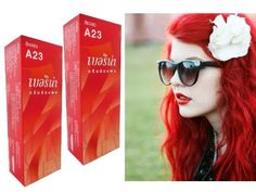 Berina Permanent Hair Color Dye Berina A23 Bright Red Color : 2 Box ** Check out the image by visiting the link.