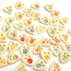 Personalized Heart Buttons - Personal Gift Wrap Idea - Personalised - Wedding Favour - Christmas Wrap - Special Finishing Touch