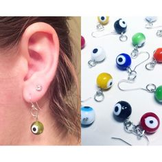 Ħαηḓℳαⅾℯ  Earrings Handmade Eyeball Earrings  $25: 1 pair  Cute glass beads and Silver Plated Hooks!   ✖️ Perfect gift for a friend or loved one  ✖️ Great way to spy on the hubby  #thirdeye  ✖️ Excellent piece to add some pizzazz to a simplistic look  You can either purchase a matching pair or a mix-matched pair and choose the two colors you'd like. Just use the selection tool to select which youd like to purchase.   Thanks! Let me know if you have any questions!!  Handmade Jewelry Earrings