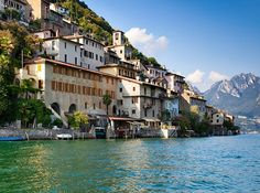 Lake Lugano, Switzerland This picture-perfect glacial lake is the Swiss equivalent of Italy's Lake Como. Around it, the city of Lugano is a melting pot of Swiss and Mediterranean