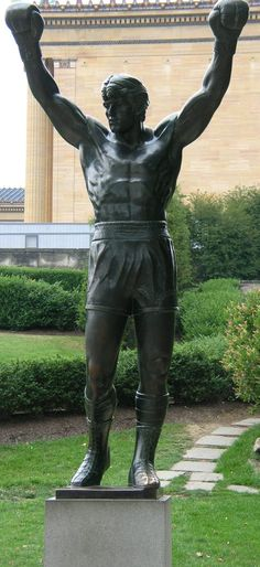 Rocky statue in Philadelphia.  the rocky films are probably the best films ever made!