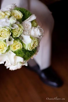 Yellow and Off White Bridal Bouquet
