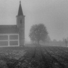 #church #fog #mist #kod #hungary #balaton