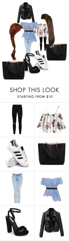 """Untitled #9700"" by lover5sos ❤ liked on Polyvore featuring adidas, self-portrait and Steve Madden"
