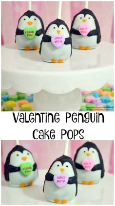Valentine Penguin Cake Pops Tutorial - an adorable Valentine treat idea for kids!