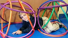 Hula hoop PE activity - great for building teamwork skills