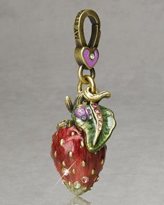 """Jessica"" Strawberry Charm by Jay Strongwater at Horchow."