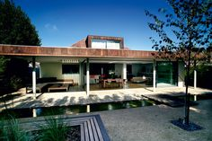 single storey modernist or organic style home