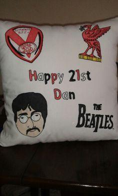 Personalised 21st cushion