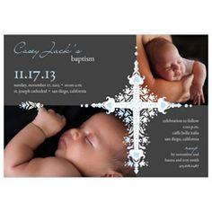 Photo Christening Invitations - Photo Baptism Invitations - Storkie