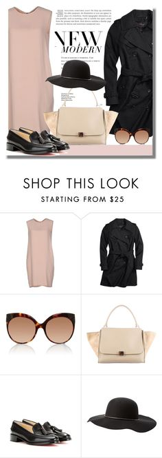 """""""Trending This Fall : Loafers"""" by fattie-zara ❤ liked on Polyvore featuring New York Industrie, Coach, Linda Farrow, CÉLINE, Christian Louboutin and Charlotte Russe"""