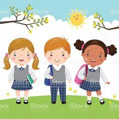 Resultado de imagen de kids at school illustration