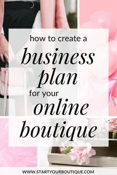 How to create an easy business plan for your online boutique. Click through to learn about things to consider when starting a women's online boutique. Also get a FREE boutique business plan template One Page Business Plan, Creating A Business Plan, Sample Business Plan, Home Based Business, Starting A Business, Business Planning, Business Tips, Successful Business, Name Of Business