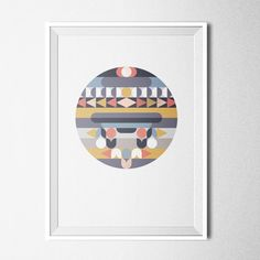 OPAL SPHERE / Poster A3  lovely, geometrical print, pastel-coloured