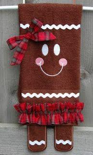 New Holiday Towel ~ Ginger Legs!  embroiderygarden.blogspot.com