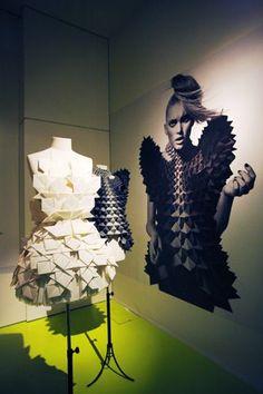 Modemuseum Antwerpen : Paper Fashion exhibition with Walter Van Beirendonck, Dirk Van Saene, Jum Nakao, Issey Miyake #NaaiAntwerp