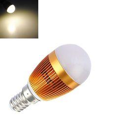 B, E14 3W Warm White LED Energy Saving Spot light Lamp Bulb 110-240V