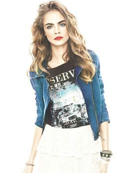 Cara Delevigne look beautiful with wavy hair #model #modelhair #hairstyles #haircare