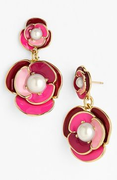 kate spade new york 'deco blossom' drop earrings available at #Nordstrom