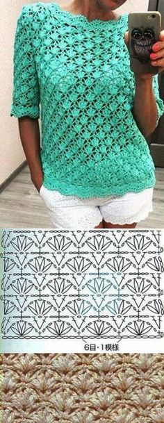 """Hermoso y sencillo. Beautiful and easy to make [ """"crochelinhasagulhas: Crochê na net Mais"""", """"Beautiful and easy to make"""", """"Crochet blouse with a beautiful pattern."""", """"Posts on the topic of вязалки вышивалки added by Наталия Савкина"""", """"I can Cardigan Au Crochet, Gilet Crochet, Crochet Jacket, Crochet Cardigan, Knit Crochet, Crochet Summer, Lace Sweater, Cardigan Pattern, Shawl Cardigan"""