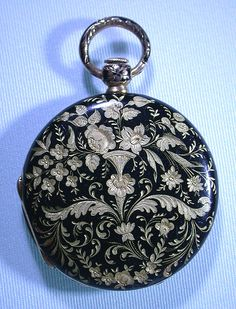 Bogoff Antique Pocket Watches 18K Gold Enamel - Bogoff Antique Pocket Watch # 6605